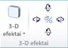 """WordArt"" 3-D efektų grupė programoje ""Publisher 2010"""