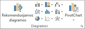 """Excel"" diagramų mygtukai"