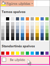 Be užpildo spalvos