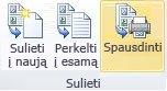 Katalogo suliejimas spausdintuve