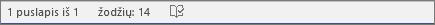 """""""Office 365"""" žodžių ir puslapių skaičius"""
