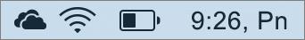 """""""OneDrive"""" piktograma """"Mac"""" sistemos dėkle"""