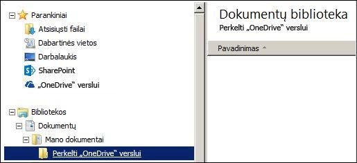"""aplanką, kuriame laikinai laikysite failus, skirtus perkelti į """"Office 365"""""""