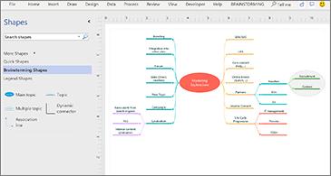 Idėjų telkimo pradinė diagrama