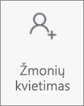 """Mygtukas Pakviesti žmonių programėlėje """"OneDrive"""", skirtoje """"Android"""""""
