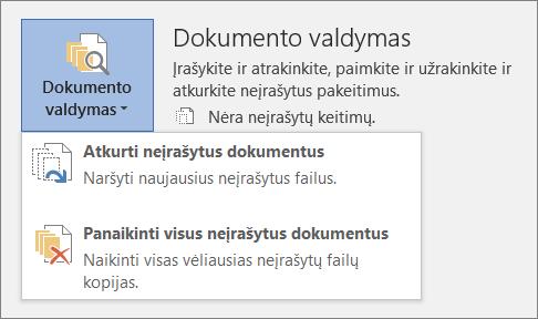 """""""Office 2016"""" dokumentų tvarkymas"""