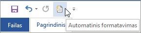 Automatinio formatavimo piktograma