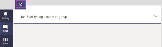 """Pradėkite pokalbį programoje """"teams""""."""