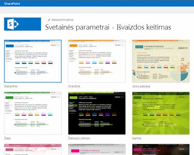 Bendruomenės svetainės tinkinimui galimų dizainų pavyzdžiai