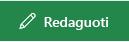 """Mygtuko Redaguoti saitą programoje """"SharePoint"""" ekrano kopija."""