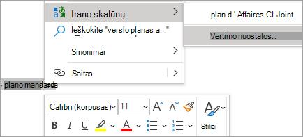 Rodyti laiške sąsodį vertimą