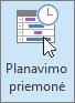 """""""Outlook"""", planavimo pagalbinės priemonės mygtukas"""