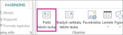 """Publisher"" teksto lauko Piešti ekrano nuotrauka"