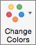 Diagramos kūrimo skirtuke pasirinkite Keisti spalvas
