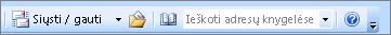 Outlook 2007 adresų knygos iešką