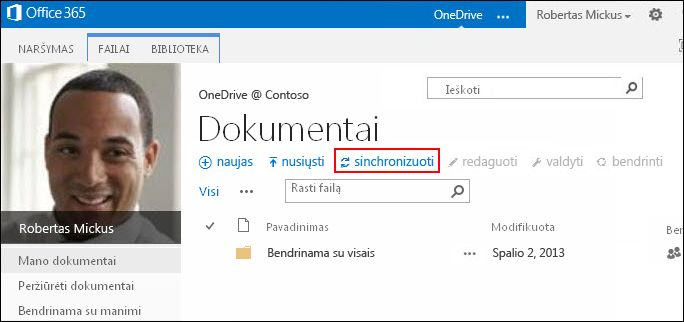 """OneDrive"" verslui biblioteka ""Office 365"""