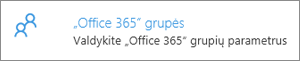 """Office 365"" grupės"