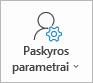 """""""Outlook"""" paskyros parametrų mygtukas"""