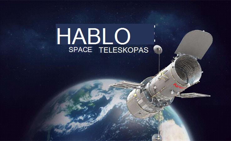 """Hubble"" teleskopo vaizdas erdvėje."