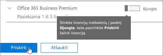 Pašalinti licencijas