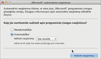 Microsoft Automatinis naujinimas