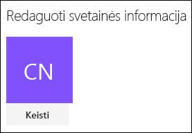 """Ekrano kopija, kurioje matomas """"SharePoint"""" dialogo langas, skirtas keisti svetainės logotipą."""
