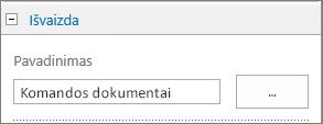 Pakeiskite numatytosios dokumentų bibliotekos pavadinimą į komandos dokumentus