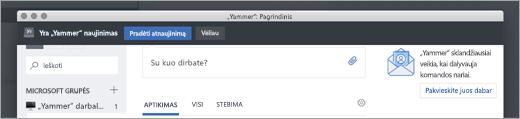 """""""Yammer"""" programėlės naujinimai"""