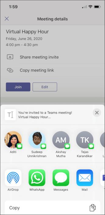 Susitikimo informacija – mobili ekrano nuotrauka