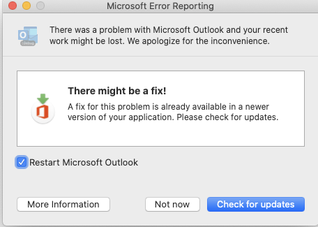 """""""Microsoft"""" klaidų ataskaitų langas."""
