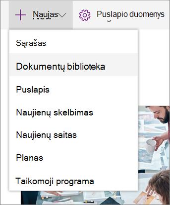 SPO įtraukti sąrašą arba biblioteką