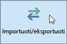 "Programos ""Outlook 2016"" importavimo / eksportavimo mygtuko ekrano nuotrauka"