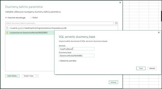 """""""Excel Power BI"""" – duomenų šaltinio parametrų patobulinimai"""