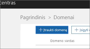 Spustelėkite Įtraukti domeną