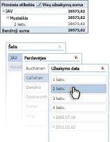 """""""Excel"""" juostelės vaizdas"""