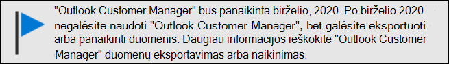 """Outlook Customer Manager"" palaikymo pabaiga birželį, 2020"