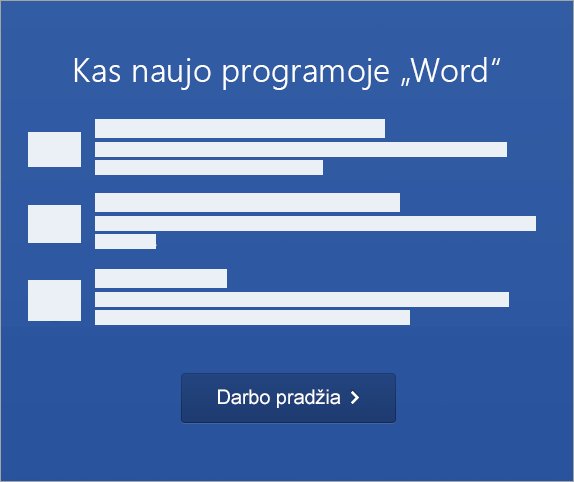"""Pradėkite aktyvinti """"Word 2016 for Mac"""""""