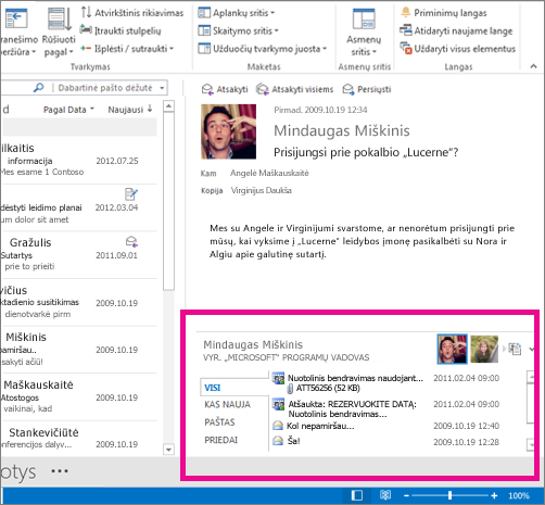 "Išplėstas ""Outlook Social Connector"""