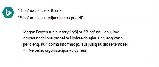 """""""Office 365"""" ekrano sujungti """"Yammer"""" grupės naują ryšį su"""