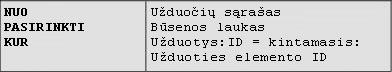 2 pavyzdys: Panašūs į SQL užklausos peržvalgos