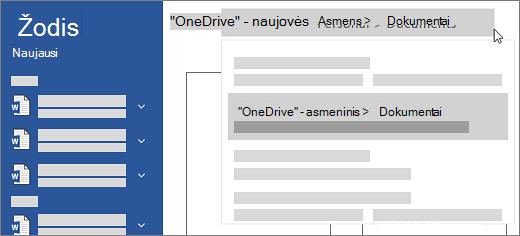 """Nauja """"OneDrive"""""""