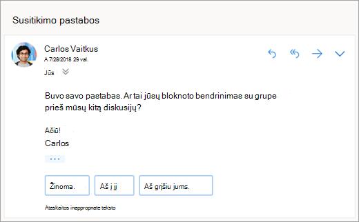 Ekrano nuotrauka siūlomi atsakymai