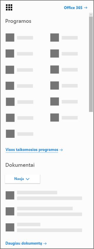 """""""Office 365"""" taikomųjų programų vykdyklė"""