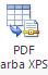 PDF arba XPS mygtuko atvaizdas