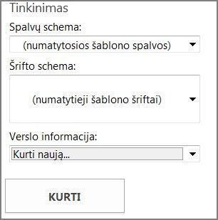 Iš Office.com gaunamų atvirukų šablonų parinktys.