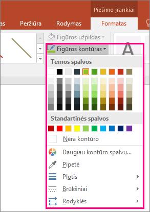 """Rodo linijos spalvų parinktis """"Office"""""""