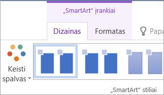 """Mygtukas Keisti spalvas """"SmartArt"""" įrankių skirtuke Dizainas"""