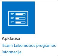 """Apklausos programos piktograma, įtraukta į """"SharePoint"""""""