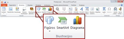 The Illustrations group on the Insert tab