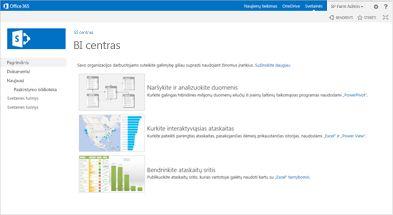 Verslo įžvalgų centro svetainės šablonas